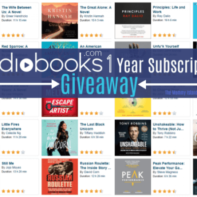 Win a Year Subscription to Audiobooks.com! Ends 4/30