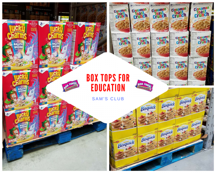 Box Tops for Education at Sam's Club