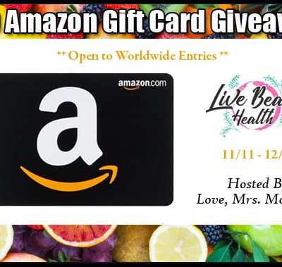 Live Beauty Health $50 Amazon Gift Card Giveaway! 12/9