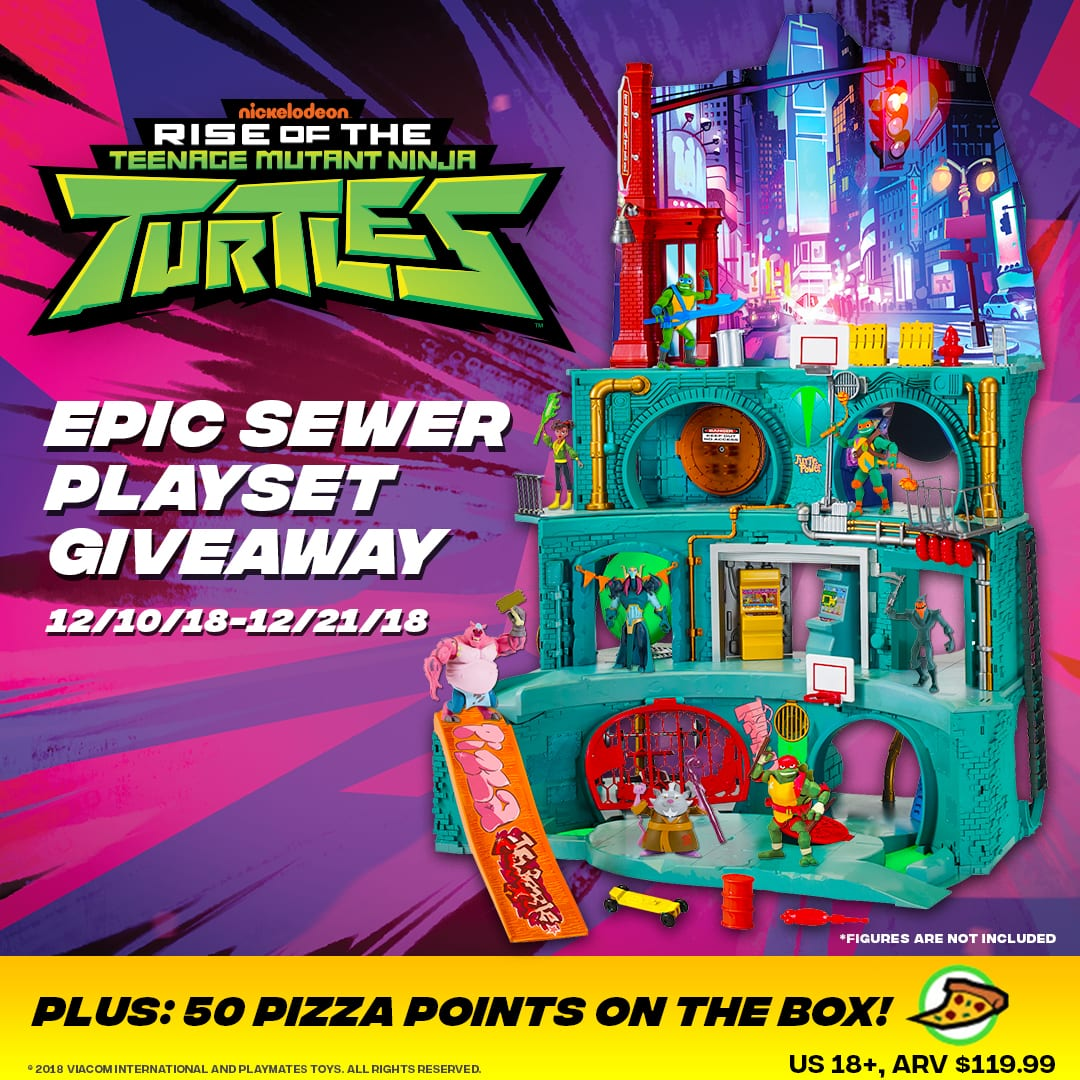Rise of the Teenage Mutant Ninja Turtles, Epic Sewer Lair Giveaway! 12/21