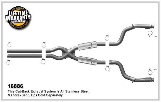 2008-2015 Dodge Challenger 6.1L SRT8 Magnaflow Exhaust