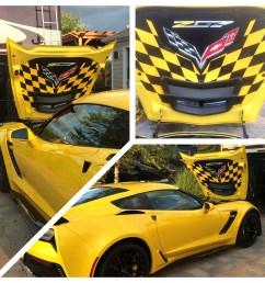 2014 2019 c7 corvette z06 custom airbrushed hood liner z07 [ 900 x 900 Pixel ]