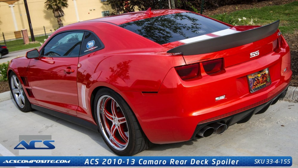 medium resolution of camaro z28 style custom painted rear spoiler