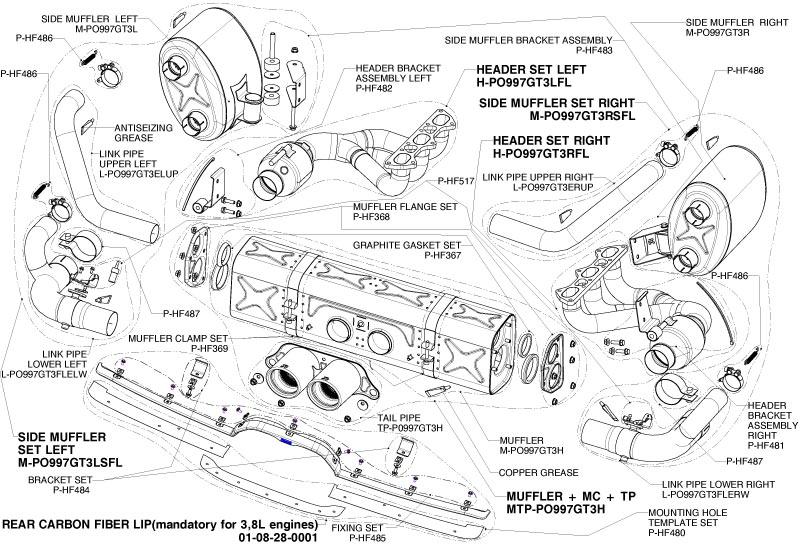 Porsche GT3 Exhaust-GT3 Akrapovic Exhaust-997 GT3 Titanium