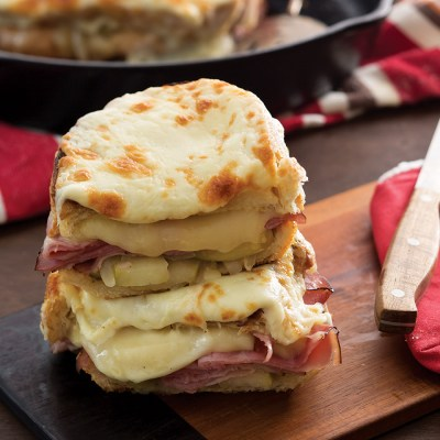Ham and Cheese Skillet Sandwiches