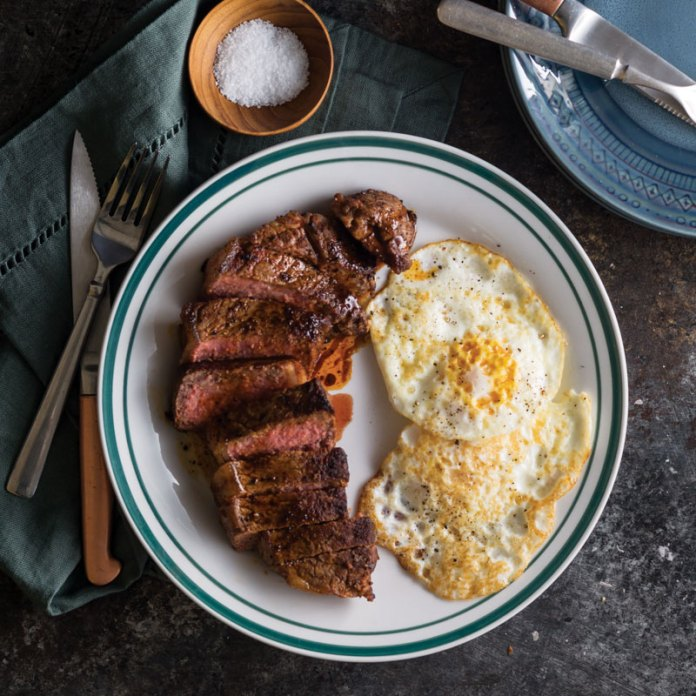 Skillet Steak and Fried Eggs