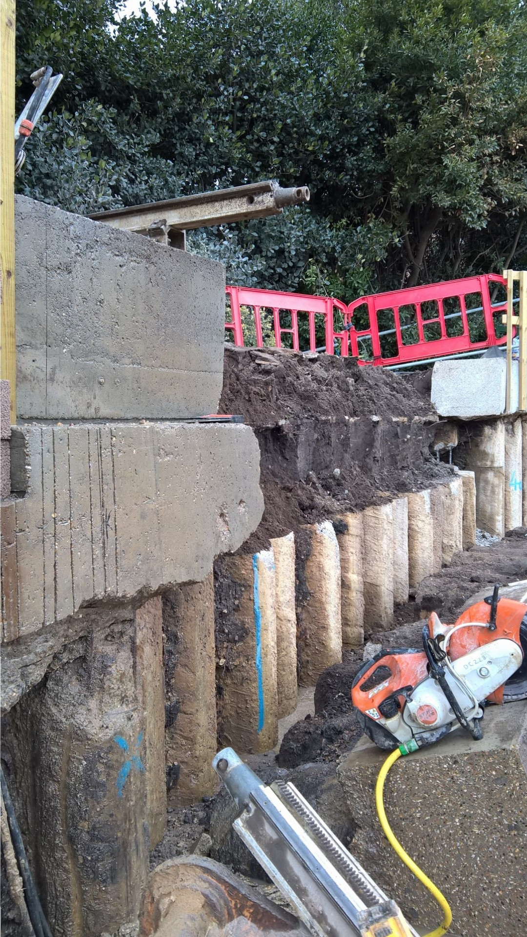 Demolition Concrete Wall : Removal adjustment of reinforced concrete wallsouthern