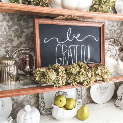 The Easiest Fall Chalkboard You Will Ever Make