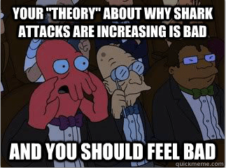 "Need a shark ""expert"" to come up with a theory? Why not Zoidberg?"
