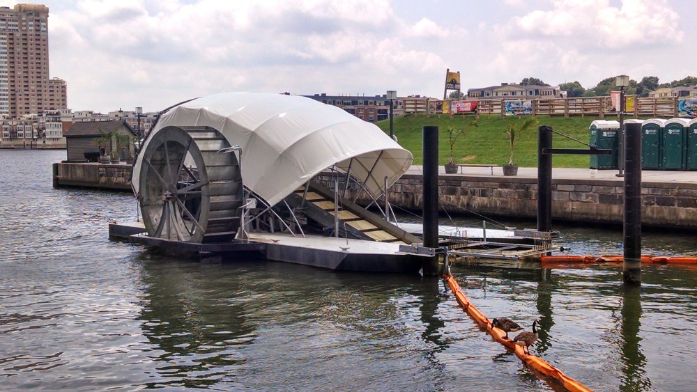Inner Harbor Water Wheel. Photo by Andrew Thaler.