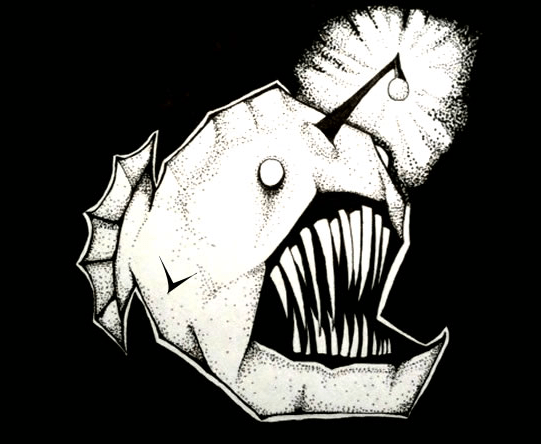 This Anglerfish is dwarf-male parasite free. Image from the Oatmeal.