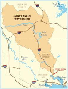 The Jones Falls watershed.