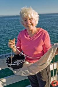 """She led the way for people with strong family commitments to go to sea, showing that scientists could combine challenging, field-based careers with family life."" Dr. Margaret Delaney, UCSC (Photo Credit: Jim MacKenzie)"