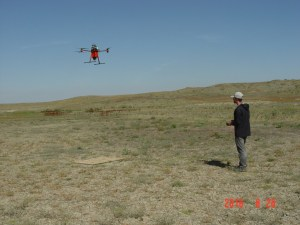 Pellet drone in flight by Randy Matchett/US Fish and Wildlife Service