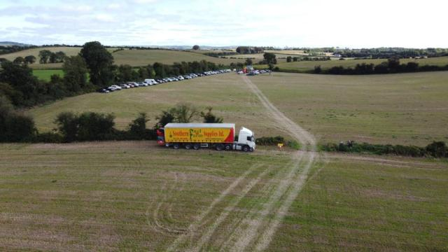 Drone shot of Maize open day