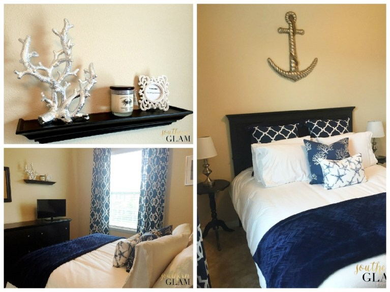 Nautical Guest Bedroom - Southern Glam
