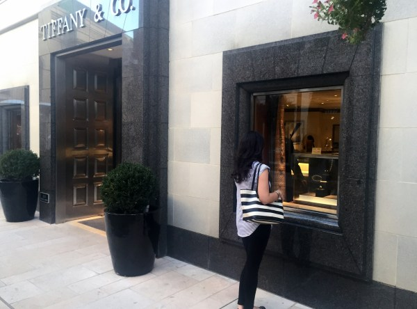 Tiffany & Co on Rodeo Drive in Beverly Hills California with Meagan Phillips of Southern Glam Meagan