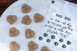 Boho chic dog wedding favors