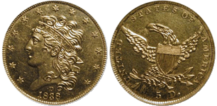 1838-D Half Eagle