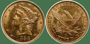 1856-D Half Eagle