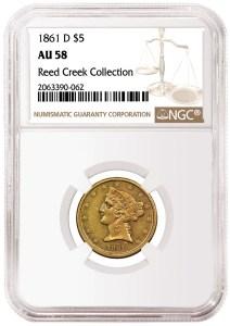 1861 D $5