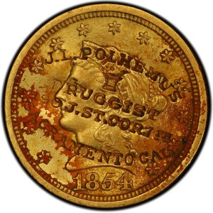 1854 New Orleans Gold Coin