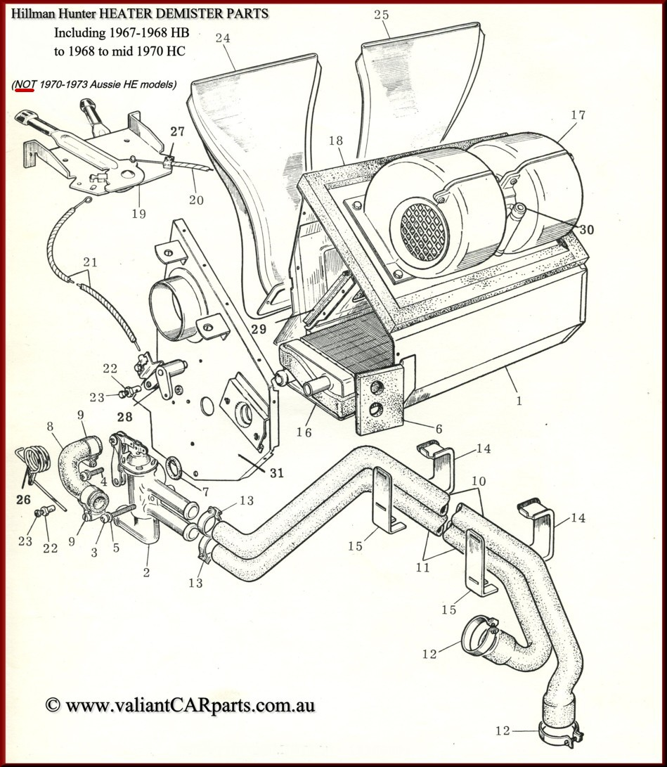small resolution of  smiths type heater as factory fitted to the h b and h c model only 1967 to early 1970 item no 8 shown in our hb hc heater diagram on this page