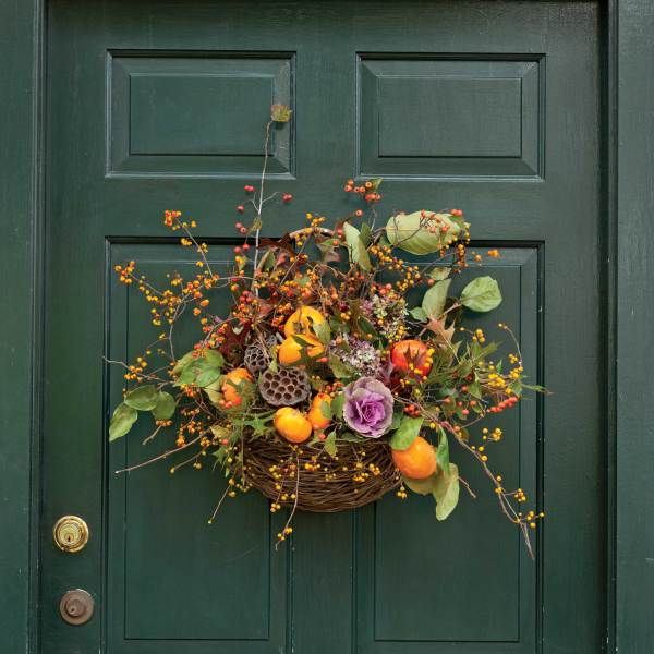 Fall Door Wreath Decorations