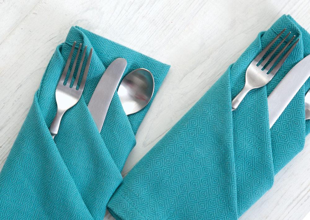 three pocket napkin fold