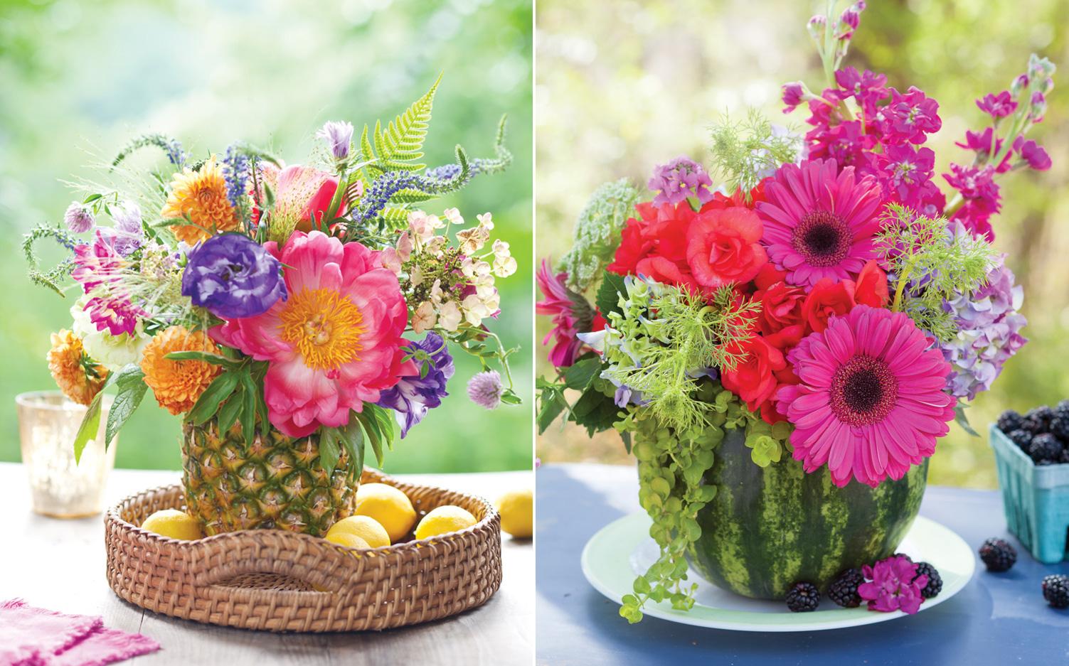 create summer floral arrangements