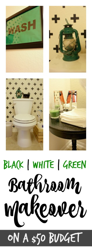 Bathroom Makeover on a $50 Budget!