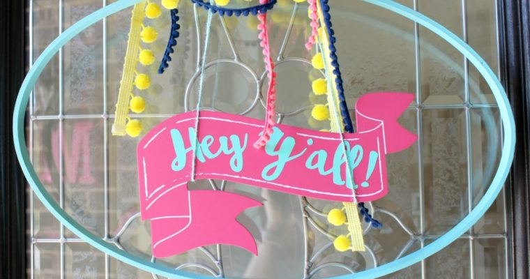Spring Porch & DIY Door Hanger!