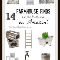 14 Farmhouse Bathroom Finds on Amazon!