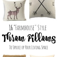 16 Farmhouse Pillows to Spruce up Your Decor