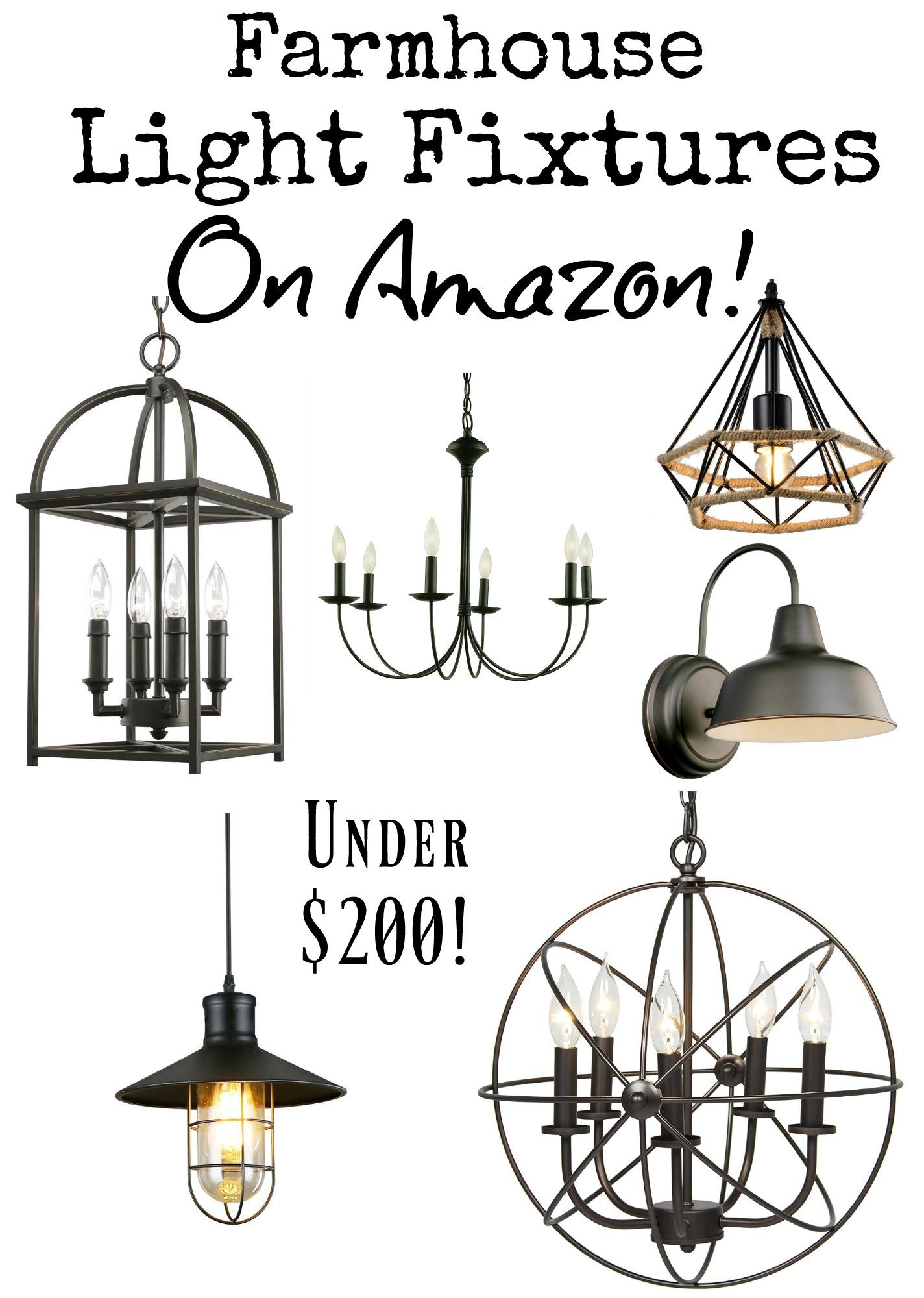 Farmhouse Light Fixtures Under 200 On Amazon