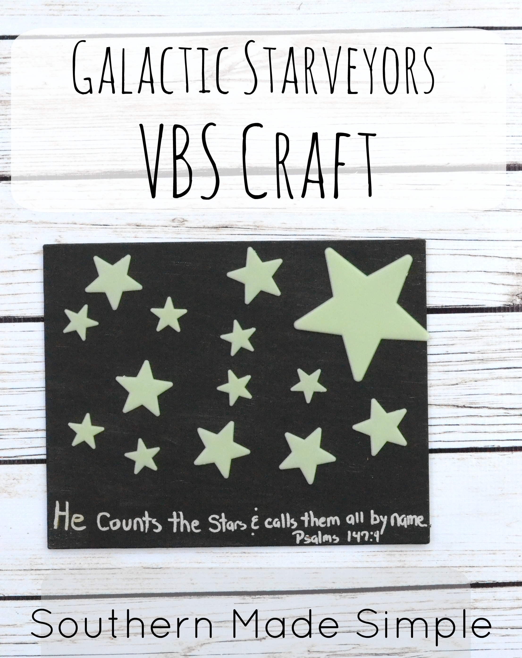 Easy Vbs Galactic Starveyors Craft Idea