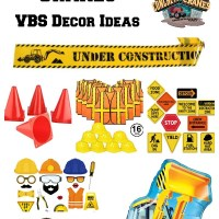 Concrete & Cranes VBS Decor Ideas