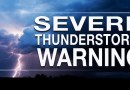 Severe Thunderstorm Warning Issued for Parts of Southern Maryland