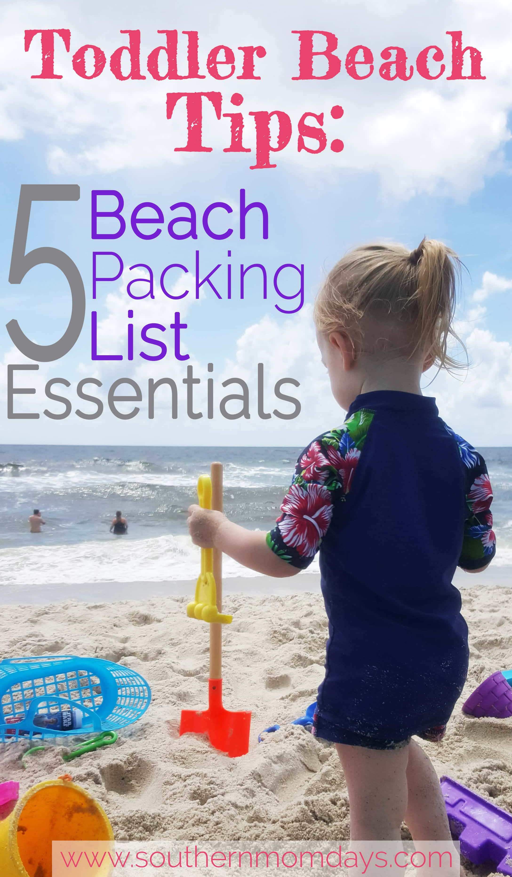 Toddler Beach Tips: 5 Beach Packing List Essentials, With Featured Image Of  Toddler Playing