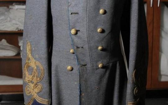 A Civil War coat worn by Confederate soldier Col. Collett Leventhorpe. A Civil War coat worn by Confederate soldier Col. Collett Leventhorpe. Chris Seward File photo