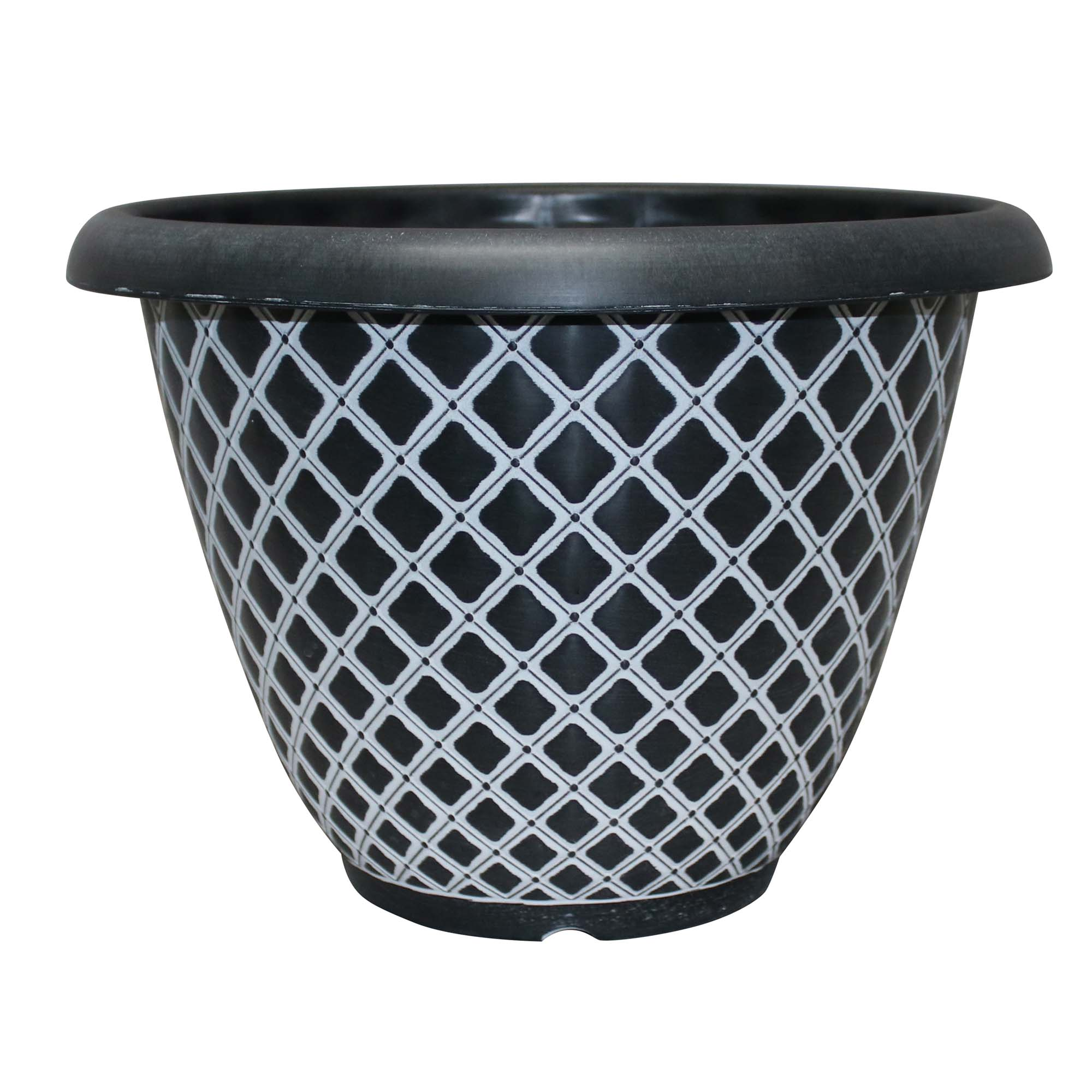 13 quilted bell planter black
