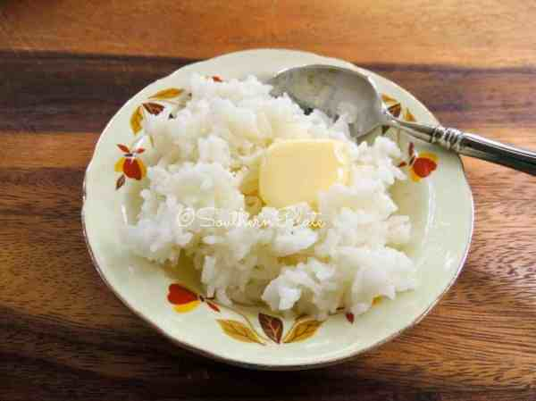 Hot Buttered Sweet Rice Southern Plate