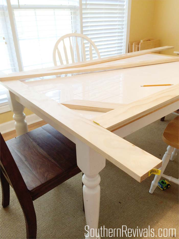 tile top table makeover updating a