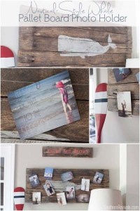 DIY Pallet Board Photo Holder | Nautical Style Whale ...