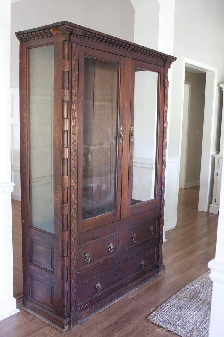 Handcrafted Mahogany China Cabinet Makeover  Southern