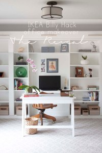 Office Makeover Reveal | IKEA Hack Built-in Billy ...
