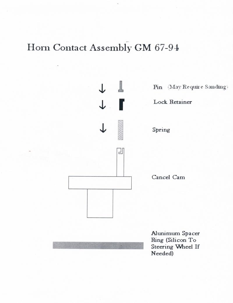 hight resolution of  impala wheel horn installation gm 67 94