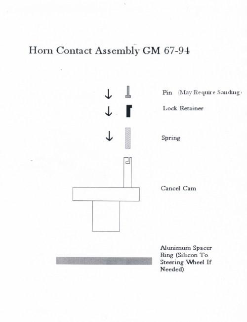 small resolution of  impala wheel horn installation gm 67 94