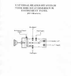 universal headlight switch with rheostat dimmer for instrument panel pt ch 007178  [ 800 x 1120 Pixel ]