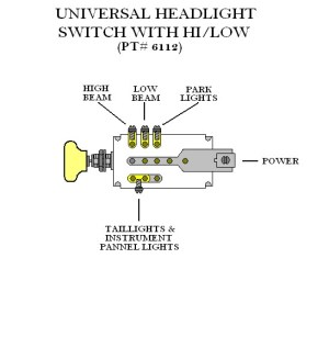 1954 Ford Headlight Switch Wiring  Wiring Diagram